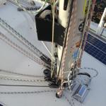 Så här ser mastfoten ut nu på Scampin.