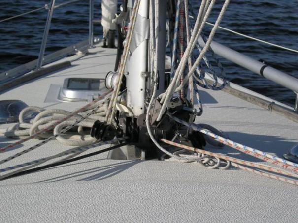 Mastfoten på Scampin - innan jag köpte båten. Foto: Patrick Carlén.
